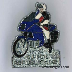 Pin's Garde Républicaine Motard translucide