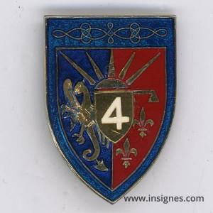 4° Régiment de Hussards Fabrication Translucide Bandeau bleu clair