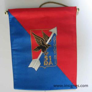 51° Régiment d'Artillerie Fanion Tissu