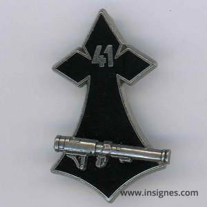 41° Régiment d'Infanterie Hermine LRAC 89 mm argenté
