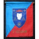 6° régiment de Cuirassiers 3° Escadron Fanion Tissu
