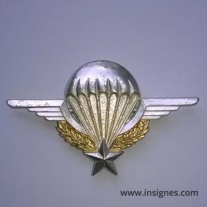Brevet Parachutiste argenté prestige