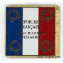Ecole Militaire Interarmes EMIA Drapeau émaillé