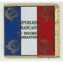 56° Régiment d'Infanterie Drapeau émaillé sans hampe