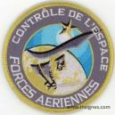 FORCES AERIENNES CONTROLE DE L'ESPACE Tissu Patch