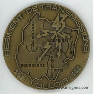 43° Régiment des Transmissions Médaille de table 78 mm