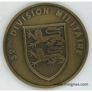 32° Division Militaire Médaille de table 78 mm