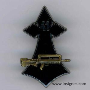 41° Régiment d'Infanterie Hermine famas bronze
