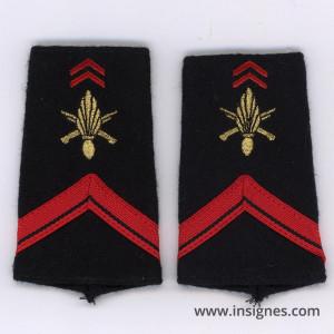 Tissu fourreaux Infanterie 1° classe ADL