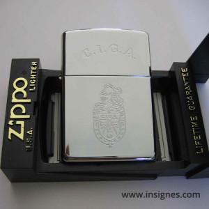 CIGA (tout argenté) briquet Zippo