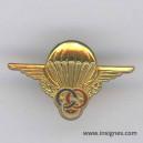 Brevet Parachutiste Moniteur Pin's grande taille doré