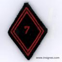 Tissu Losange 45 7° Bataillon du Génie de D.A Troupe