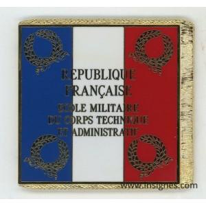 Ecole Militaire du Corps Technique et Administratif EMCTA Drapeau émaillé