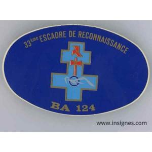 33° Escadre de Reconnaissance BA 124 Autocollant