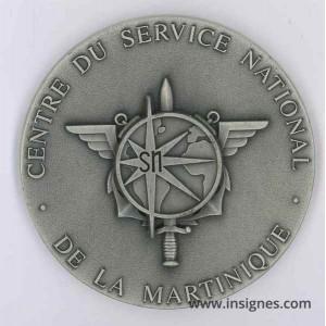 Centre Service National MARTINIQUE Antilles Médaille de table 7 cm