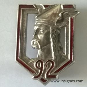 92° Régiment d'Infanterie en Argent Massif