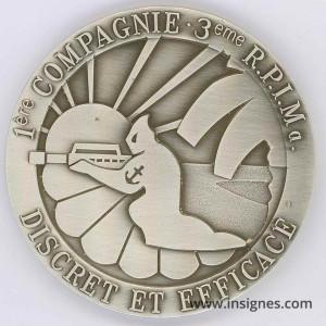 3° RPIMA 1° Companie Médaille de table 70 mm