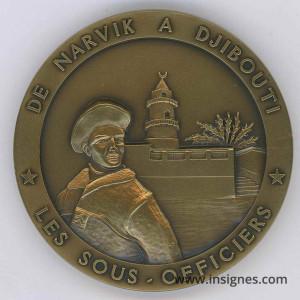 13° DBLE Les Sous-Officiers Médaille de table 65 mm