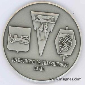 42° Régiment de Transmissions LAVAL Fond de coupelle 68 mm