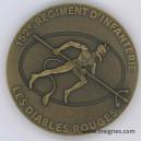 152° Régiment d' Infanterie Médaille de table 68 mm Bronze