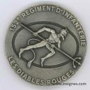 152° Régiment d' Infanterie Médaille de table 68 mm Argentée