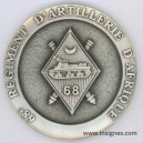68° Régiment d'Artillerie d'Afrique RAA Médaille de table