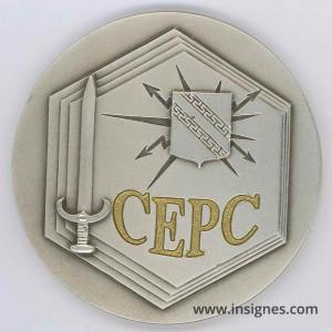 CEPC Centre d'Entrainement des Postes de Commandement Médaille de table 80 mm