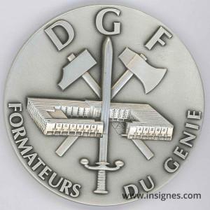 DGF Formateurs du Génie Médaille de table 70 mm
