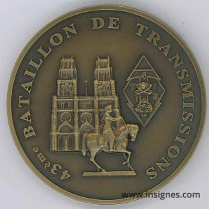 43° Bataillon des Transmissions Médaille de table 70 mm
