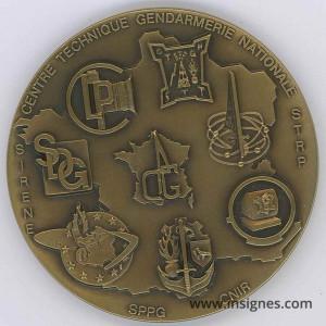 Centre Technique de la Gendarmerie Nationale Médaille de table 65 mm