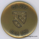 Détachement Air 277 EAA 606 Varennes sur Allier Médaille de table 65 mm (bronze)