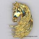 Tête de Cheval (broche dorée)