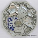 Région de Gendarmeie de FRANCHE COMTE (émail) Médaille de table 74 mm