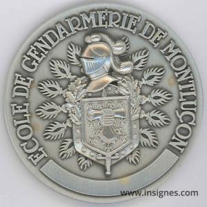 Ecole de Gendarmerie de MONTLUCON Médaille 70 mm argentée