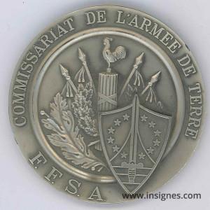 Commissariat de l'Armée de Terre FFSA La Réunion Fond de Coupelle 70 mm
