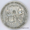 Compagnie de Gendarmerie VITRY LE FRANCOIS Médaille de table 65 mm