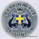 Base Navale TOULON Médaille de table 65 mm