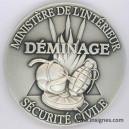 DEMINAGE Sécurité Civile Médaille de table 65 mm (argenté)