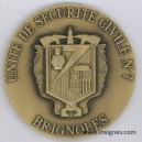 USC 7 BRIGNOLES Médaille de table 70 mm (bronze)
