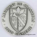 1°Régiment de Chasseurs Médaille de table 65 mm