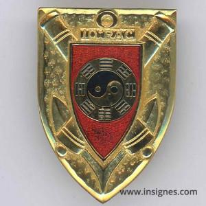 10° RAC Régiment d'Artillerie Coloniale Insigne translucide