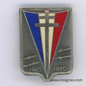 25° Anniversaire de la Libération des Camps 1945 1970 Argent Massif