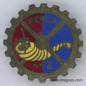 PERGA N° 2 Insigne Artillerie Fraisse Demey