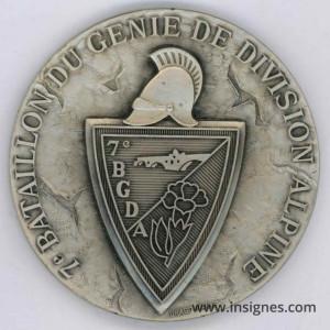 7° Bataillon du Génie de Division Alpine Médaille 68 mm