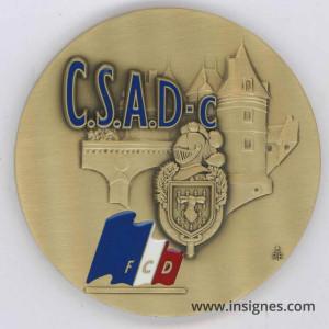 Ecole de Chatellerault Club Sportif des Armées et de la Défense CSAD Médaille de table 60 mm
