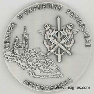 Centre d'Expertise Pétrolière Interarmées Médaille de table 80 mm