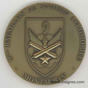 9° Bataillon de Soutien Aéronautique MONTAUBAN Médaille 70 mm