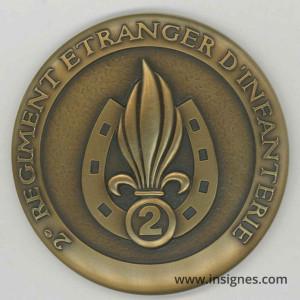 2° REI Médaille de table Légion 64 mm
