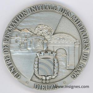 Centre de Formation Initiale des Militaires DIEUZE Médaille de table 70 mm