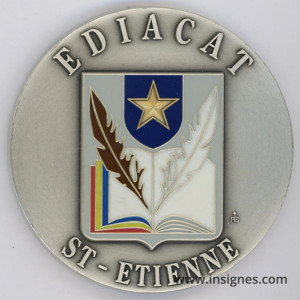 EDICAT SAINT-ETIENNE Médaille de table 70 mm Commissariat